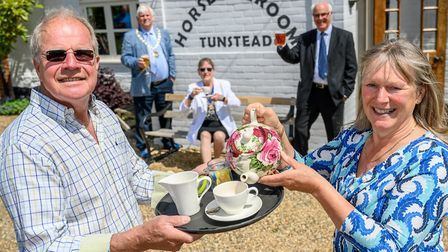 Tunstead Horse and Groom gets new cafe and games room. Pat Simpson (Gillys partner) and Gilly Foulds