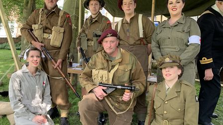 Members of the Allied Star Reenactment Group at the North Walsham D-Day commemoration, from left, Ab