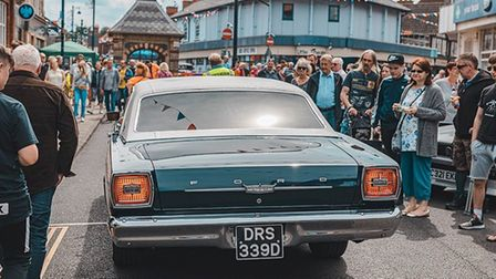 Crowds turned out in force for Sheringham Carnival's annual Classic Car Show, in spite of High Stree