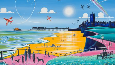 Samuel Thomas's painting, Summer of 69, which is to feature on the cover of this year's Cromer Carni