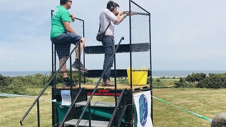 Some of the action from the Cley cley pigeon shoot. Picture: NSPCC