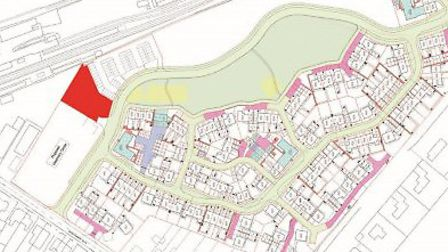 The site of the new North Walsham warehouse building, near the railway station. Pictures: Planning d