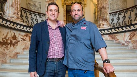 Pictured: Norfolk chef Charlie Hodson, right. Photo: Paul Macro Photography
