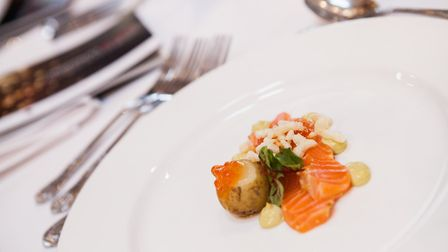 Food at the Holkham Hall charity dinner for Hospitality Action. Photo: Paul Macro Photography