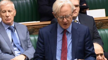 North Norfolk MP Norman Lamb calling for cannabis legalisation in the House of Commons. Photo: House