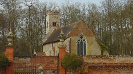 Oxnead church, where the memorial to Anna Paston was discovered. Picture: M CHAMPION