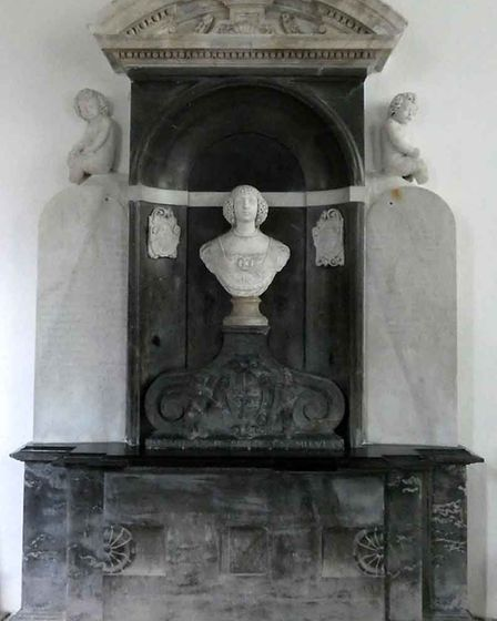 The tomb of Lady Katherine Paston at Oxnead church. Picture: M CHAMPION
