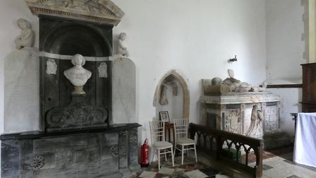 Oxnead Hall's tombs. Picture: M CHAMPION