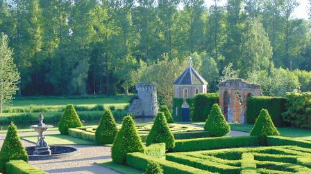 The gardens at Oxnead Hall in Norfolk, where the Pastons entertained King Charles II in 1671. Pictur