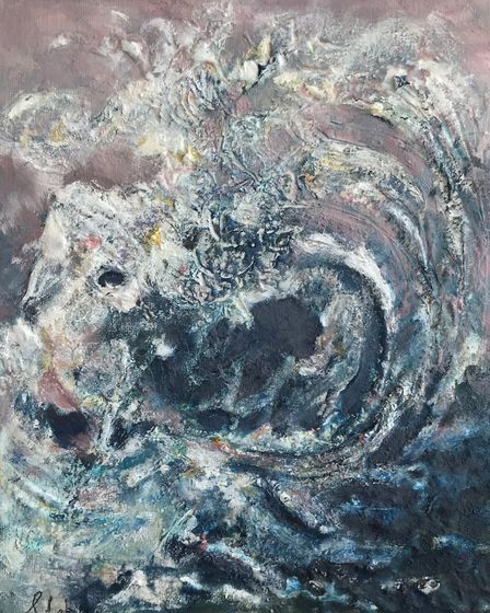The Wave, by Suzanne Lakin, one of the paintings on show at the Art House Cafe, Cromer, as part of a