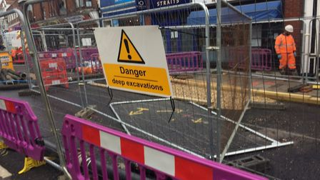 Businesses are counting the cost in lost trade in Sheringham High Street, due to a sinkhole closing