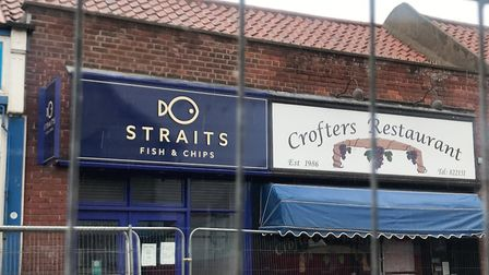 The two businesses, Straits and Crofters, which have been forced to close due to the sinkhole on She