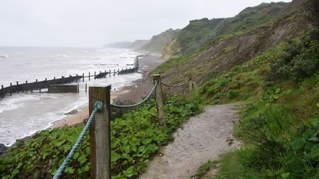 The coast path leading to Sidestrand beach near to where there was a cliff collapse. Picture: DENISE