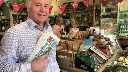 James Fowell has been coming into Itteringham village shop since he was a boy and has bought the EDP
