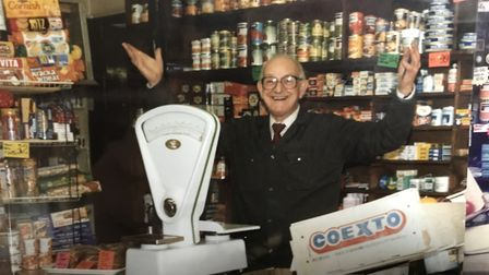 Brian Fairhead ran Itteringham village shop with his wife Dorothy from 1946 until 1994, taking over