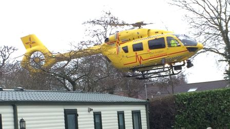 The East of England Air Ambulance was called to Woodland Holiday Park in Trimingham after a man was
