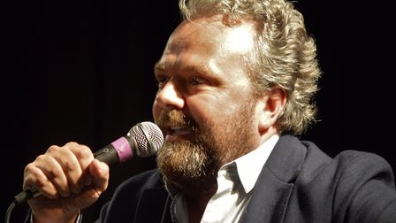 Comedy night success. Hal Cruttenden in full flow. Pictures: Richard Batson
