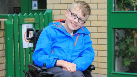 Nine-year-old Ben Taylor who needs a £60,000 operation to improve his quality of life.Picture: KAREN