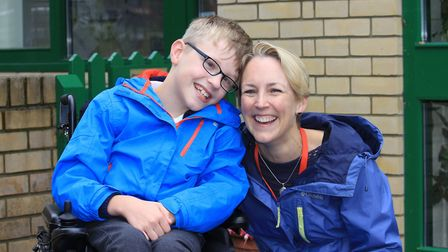 Nine-year-old Ben Taylor with his mum Belinda, who has organised a string of events as part of an ap