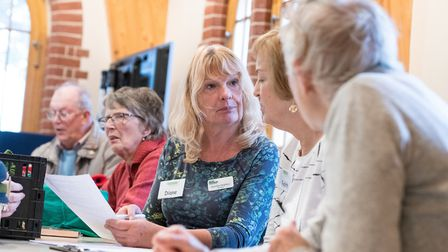 Diane Evans, centre, of the North Norfolk Macmillan Neighbours. The group won a Service Team of the