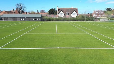 The courts at Cromer looking in pristine condition Picture: MARTIN BRAYBROOK
