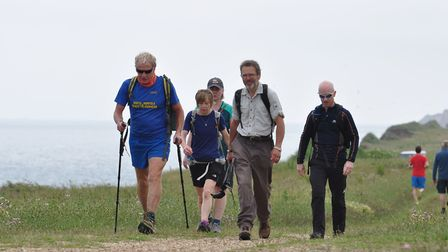 Members of the North Norfolk Beach Runners Club took part in a sponsored walk from Cromer to Wells i
