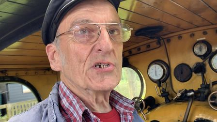 Ray Webb, volunteer driver on the North Norfolk Railway, which runs trains between Sheringham and Ho
