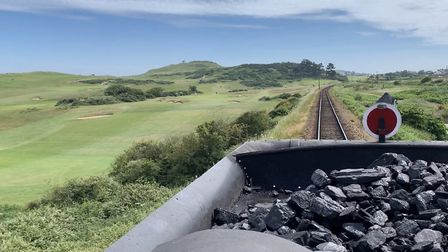 A view from the step plate of a locomotive on the North Norfolk Railway, near Sheringham. Picture: S