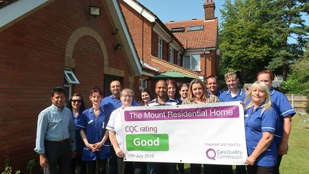 Staff at the Mount care home in Aylsham are celebrating after their first Good CQC report in years.