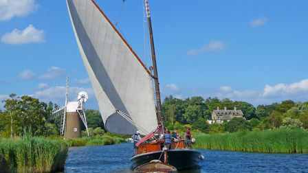 Hathor in sail at How Hill. Picture: Richard Batson and How Hill Trust