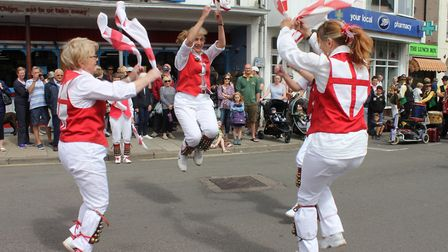 Dancing in the town centre at a previous year's Potty Morris and Folk FestivalPhoto: KAREN BETHELL