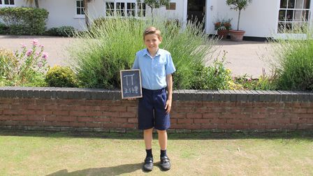 Finlay, a pupil at Beeston Hall School, in Beeston Regis near Sheringham, recently took part in a pi