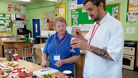 Chef Michael Carr, of the King's Head, Letheringsett and Dawn Fulcher, of Sheringham greengrocers Da