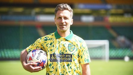 Norwich City legend Darren Eadie, who will be putting in an appearance at a footbal-themed family fu