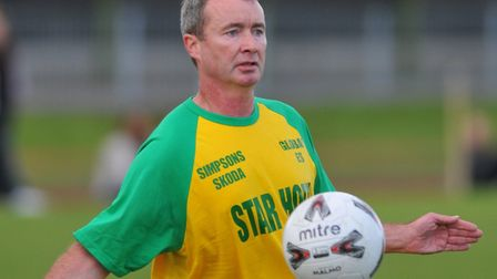Norwich City legend Mike Milligan, who will be putting in an appearance at a footbal-themed family f