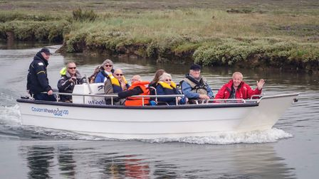 Care home residents take a trip on the Wheelyboat PICTURE: Matthew Cooper