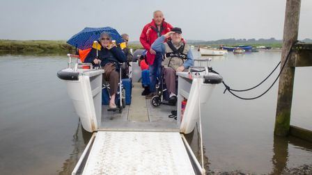 The Wheelyboat enables Cromer pensioners to take powerboating courses with greater ease PICTURE: Mat