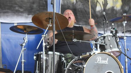Wrestler and drummer Mike Waters, who will be compering this year's Rock Bodham music festival.Pictu