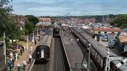 Sheringham station during the North Norfolk Railway's Vintage Transport Festival. Picture: NNR/Leigh