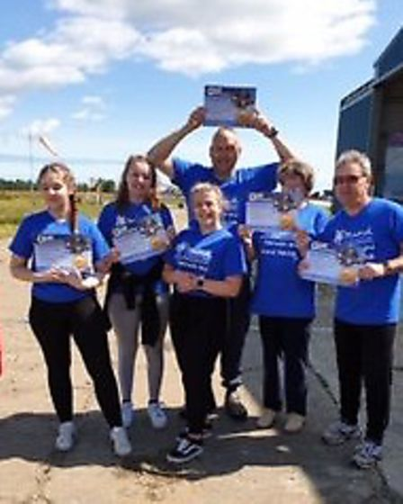 Tracy Snowden's group skydives in memory of much-loved teenager. Pictures: supplied by Tracy Snowden