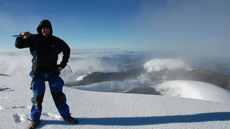 At the summit of Cotopaxi, 2013. Picture: Philip Nolan