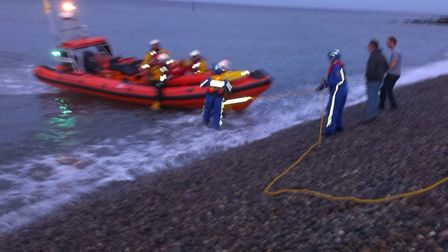 File photo of Sheringham's inshore lifeboat, which was called out to rescue a fishing boat after it