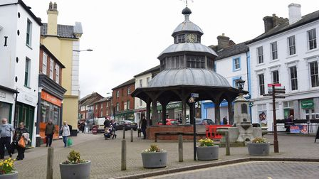 North Walsham is one of four north Norfolk towns set to receive a pot of money. The Market Cross, Pi