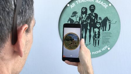 History comes alive with augmented reality from signs on the Deep History Coast trail along the nort