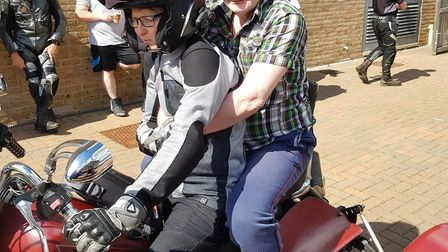 Tom Hawthorne, from Green Lane View, Aylsham, had his dream of riding a bike again come true. Photo: