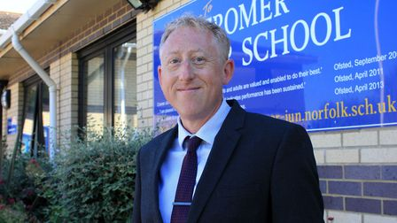 Cromer Junior School head teacher Whil de Neve, who says becoming part of the North Norfolk Academy