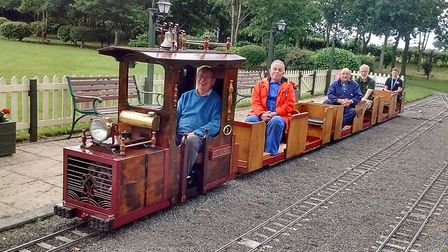 Members of the Ashmanhaugh Light Railway celebrated the thirtieth birthday of one of their engines.