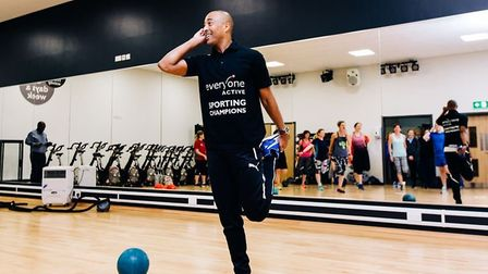 Sprint and hurdling athlete Colin Jackson is the ambassador of the Everyone Active's sporting champi