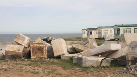 View from holiday camp at Bacton. Pictures: Maurice Gray