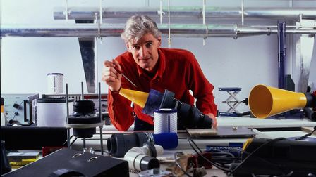 Inventor James Dyson reveals the inner workings of one of his vacuum cleaners. Picture: ARCHANT LIBR